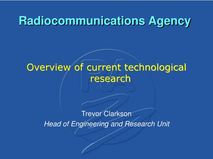 radiocommunications agency