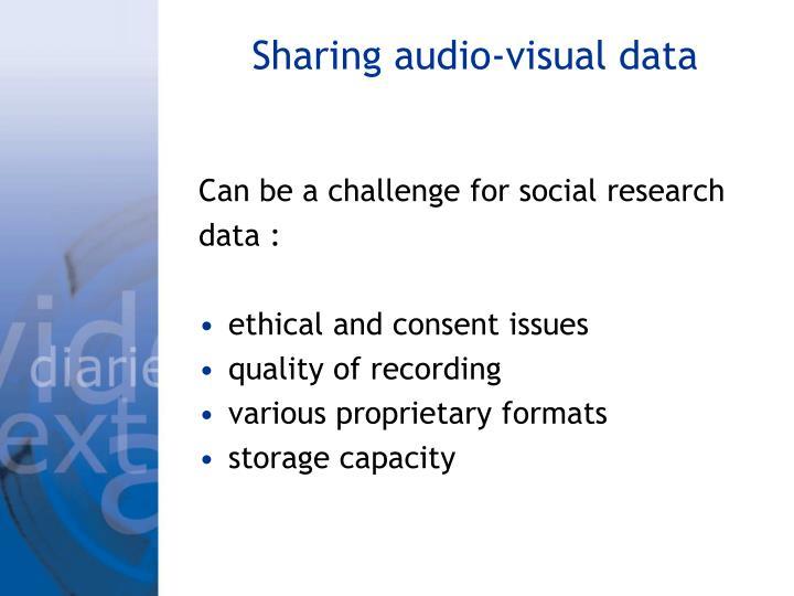 Sharing audio-visual data