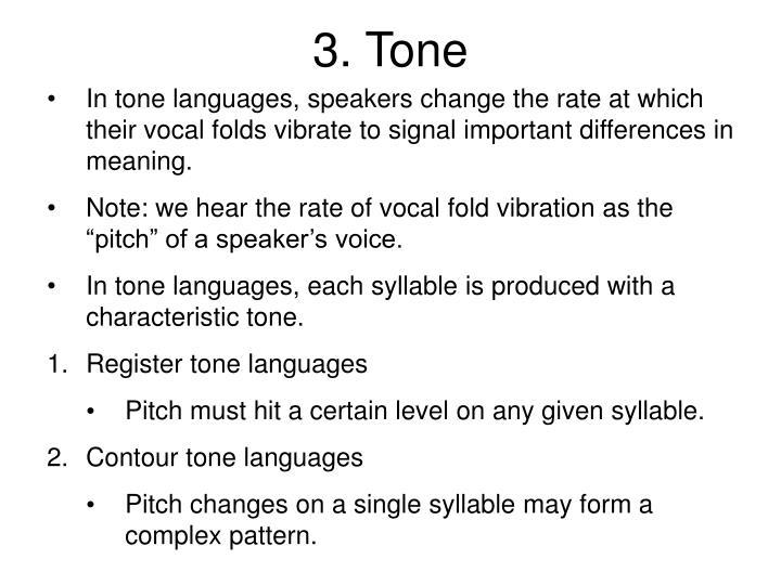 3. Tone