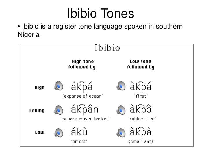 Ibibio Tones