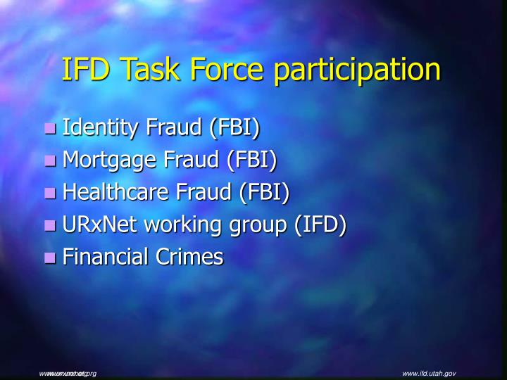 IFD Task Force participation