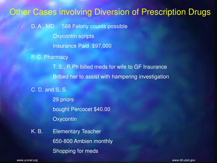 Other Cases involving Diversion of Prescription Drugs