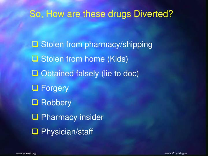 So, How are these drugs Diverted?