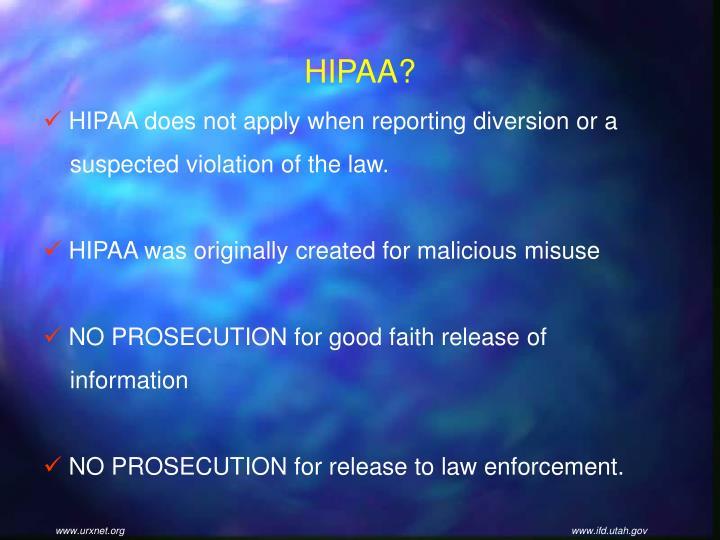 HIPAA?