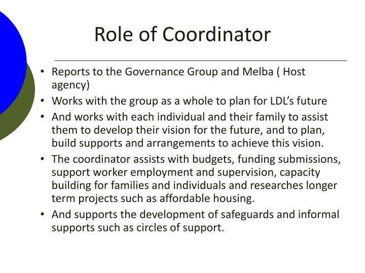 Role of Coordinator