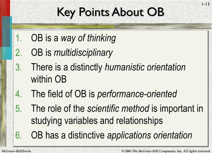 Key Points About OB