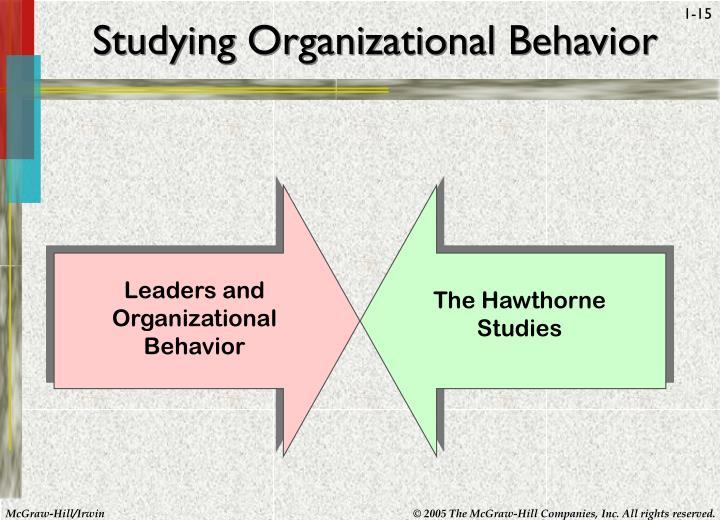 Studying Organizational Behavior