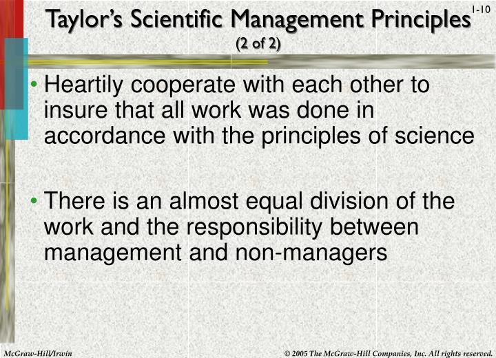 Taylor's Scientific Management Principles