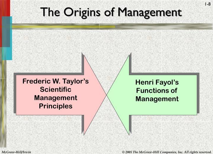 The Origins of Management
