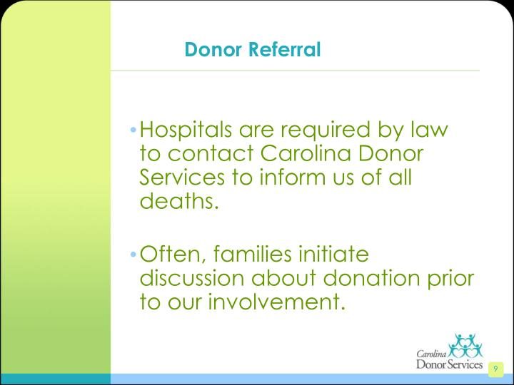 Donor Referral