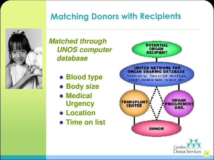 Matching Donors with Recipients