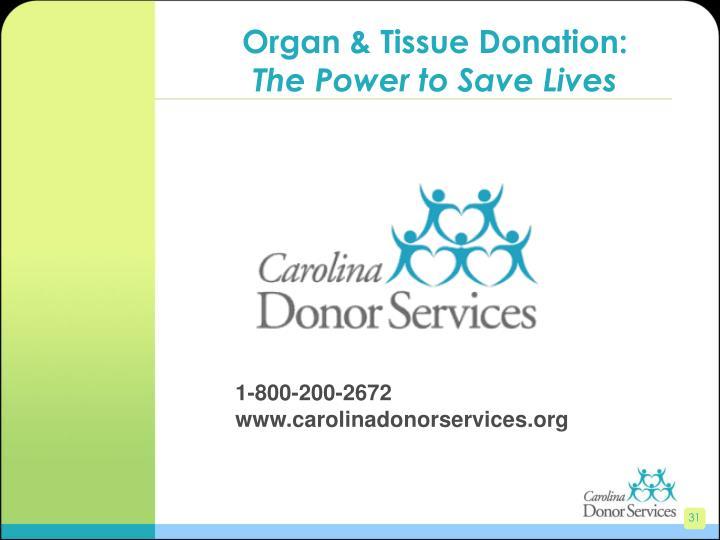 Organ & Tissue Donation:
