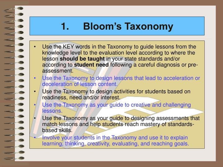 1.Bloom's Taxonomy