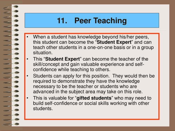 11.Peer Teaching