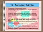 15 technology activities
