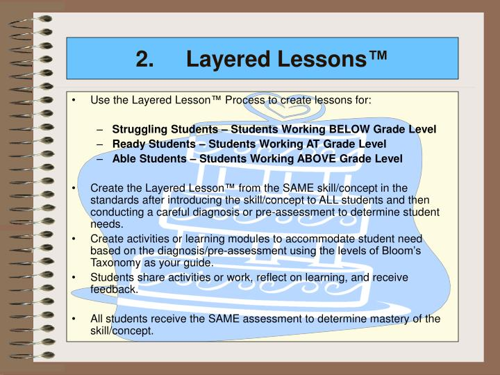 2.Layered Lessons