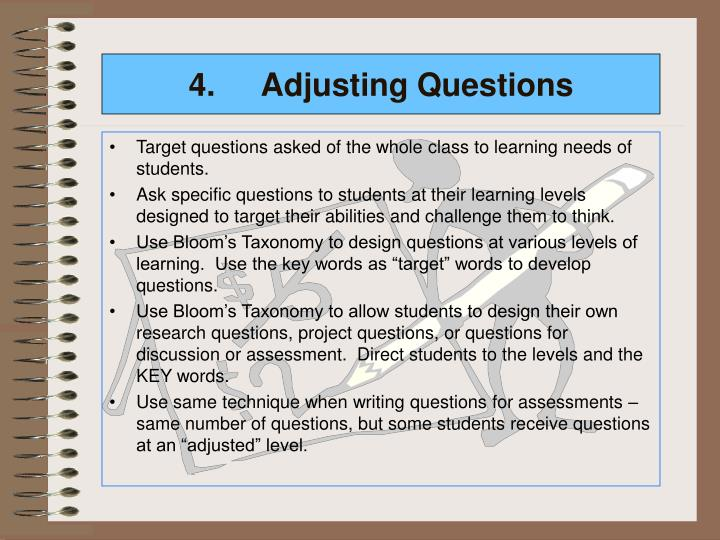 4.Adjusting Questions