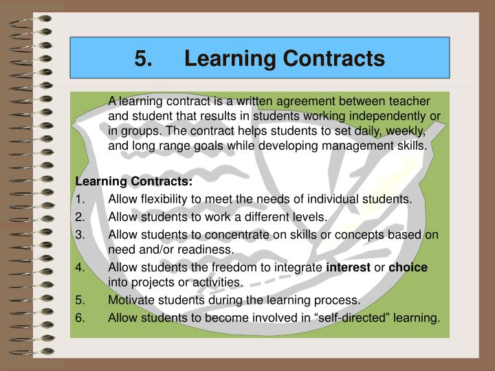 5. Learning Contracts
