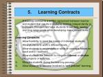 5 learning contracts