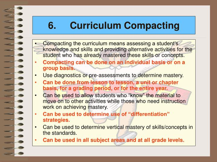 6.Curriculum Compacting