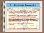 6 curriculum compacting