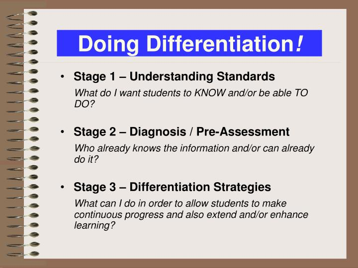 Doing Differentiation