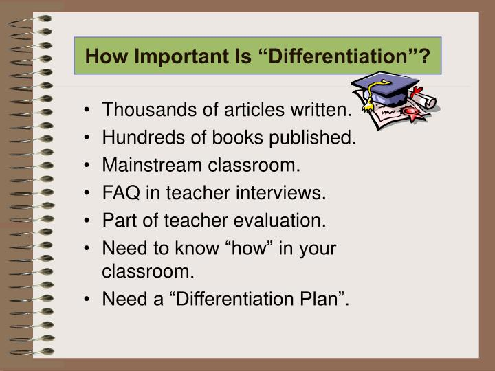 """How Important Is """"Differentiation""""?"""