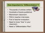 how important is differentiation