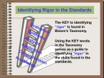 identifying rigor in the standards