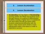 lesson acceleration
