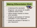making differentiation work