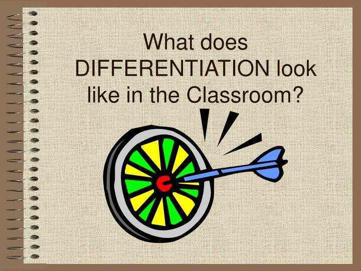 What does DIFFERENTIATION look like in the Classroom?