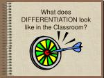 what does differentiation look like in the classroom