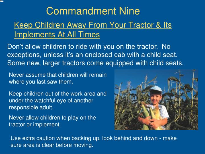 Commandment Nine
