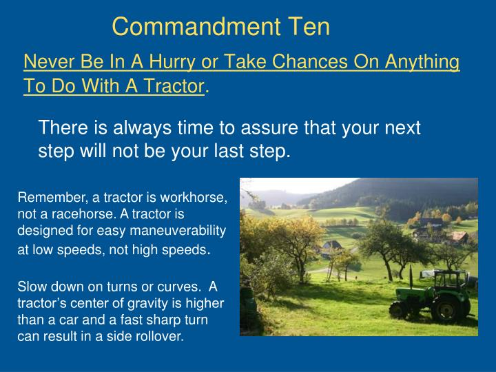 Commandment Ten
