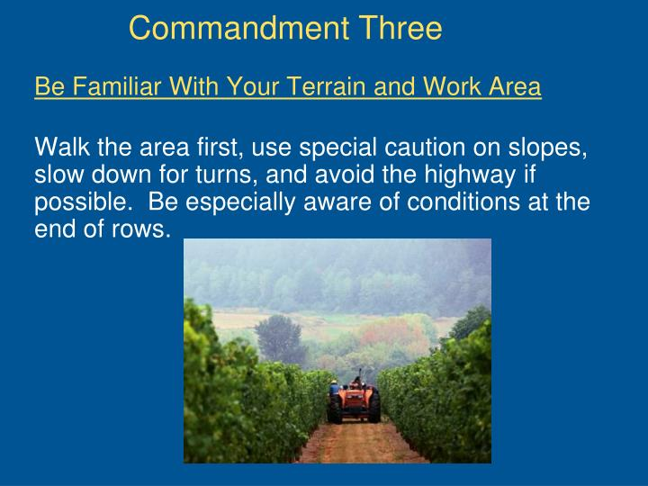 Commandment Three