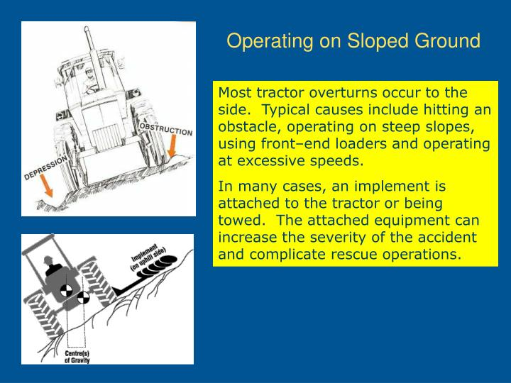 Operating on Sloped Ground