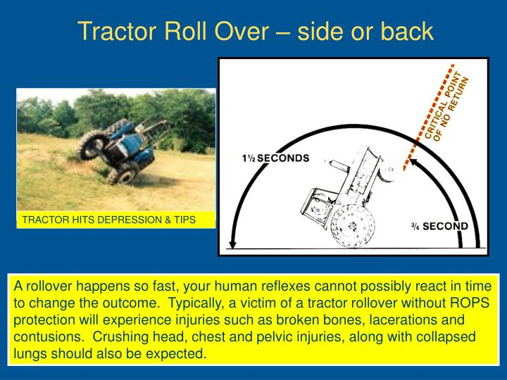 TRACTOR HITS DEPRESSION & TIPS