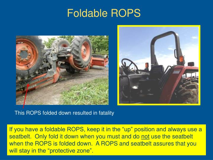 Foldable ROPS