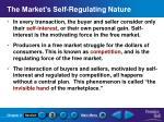 the market s self regulating nature