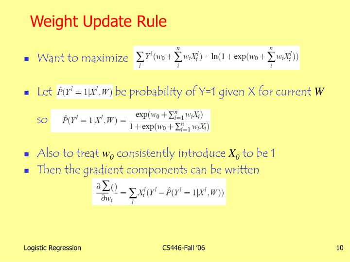 Weight Update Rule
