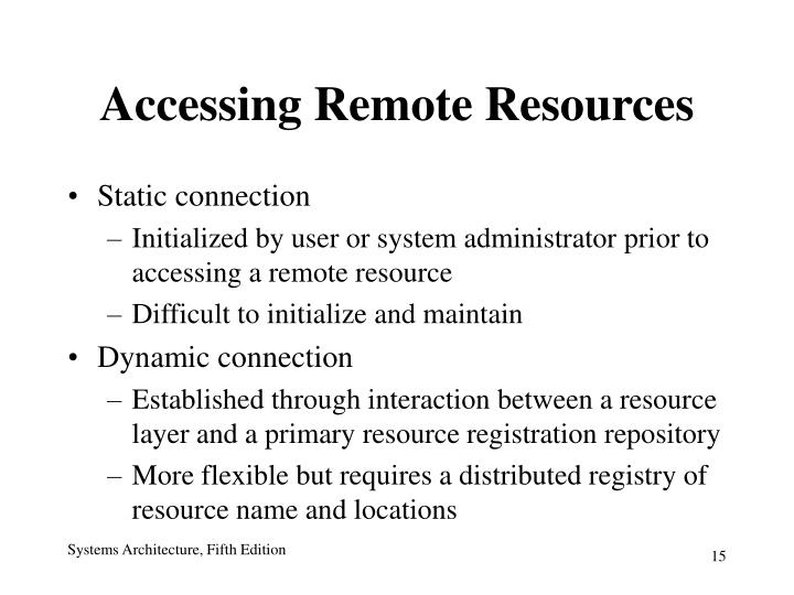 Accessing Remote Resources
