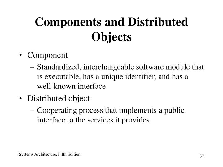 Components and Distributed Objects