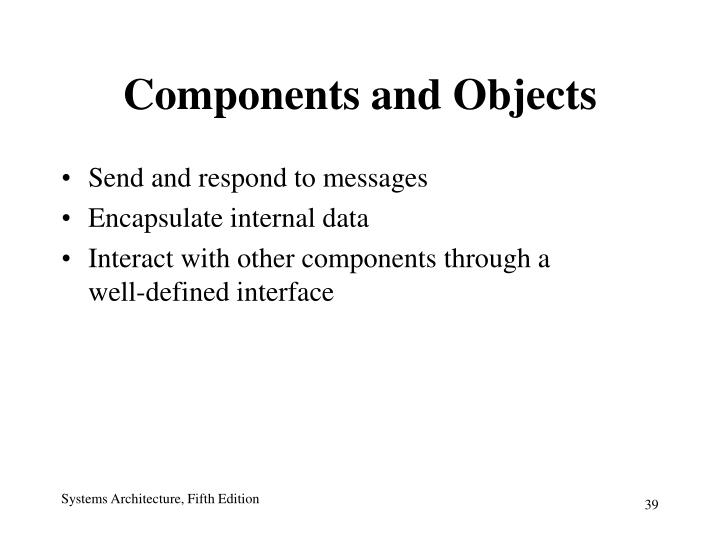 Components and Objects
