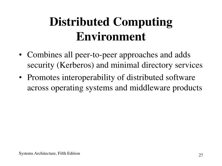 Distributed Computing Environment