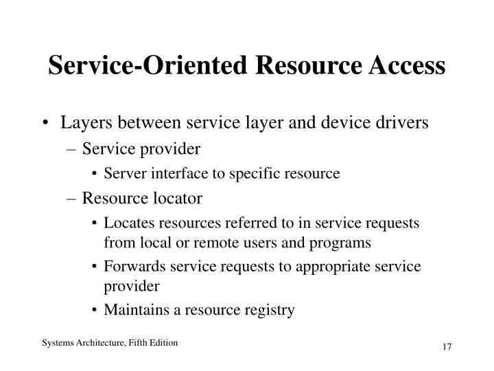 Service-Oriented Resource Access