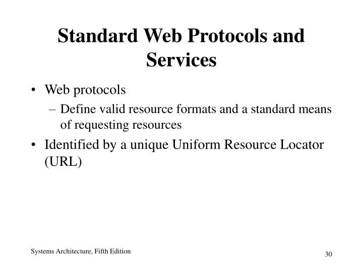 Standard Web Protocols and Services
