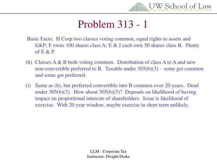 Problem 313 - 1