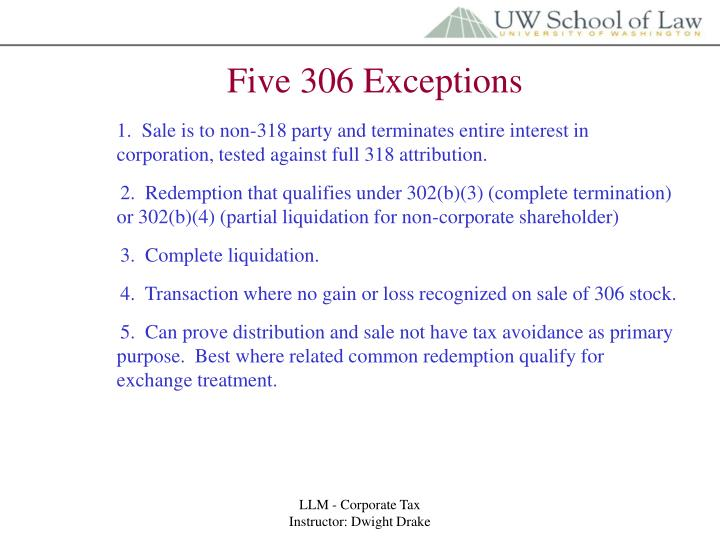 Five 306 Exceptions