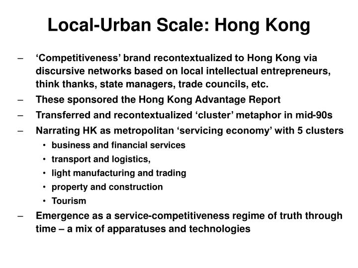 Local-Urban Scale: Hong Kong